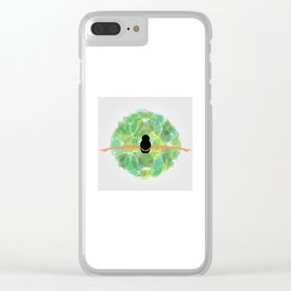 Dancing with nature- Conceptual graphic of a girl dancing with dress made from leaves Clear iPhone Case