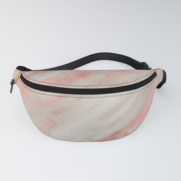 Smooth rose gold on gray marble Fanny Pack