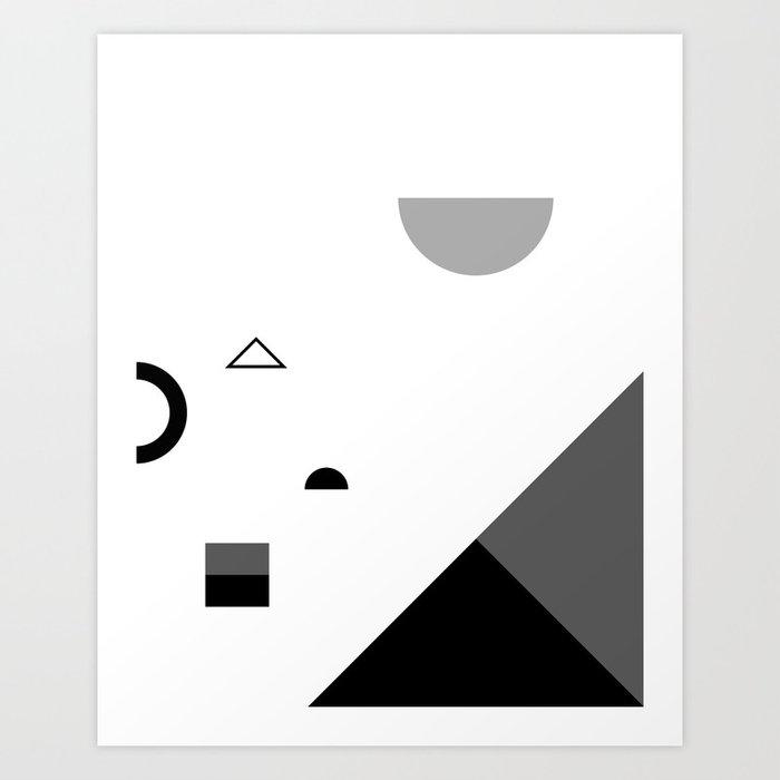 Fête No. 2 Geometric Monochrome Art Print