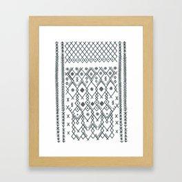 boucherouite - vintage Moroccan pattern Framed Art Print