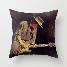 Stevie Ray Vaughan, Music Legend Throw Pillow