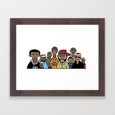 Wu-Tang Clan Caricature Framed Art Print