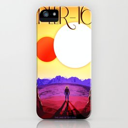 Vintage poster - Kepler-16b iPhone Case