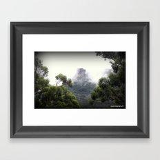 Fog covering Mt.William Framed Art Print