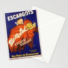 Vintage poster - Escargots Stationery Cards