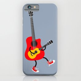 Dancing guitars iPhone Case