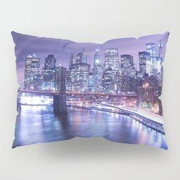 New York City Night Lights : Periwinkle Blue Pillow Sham