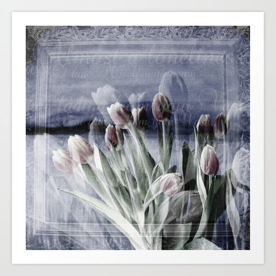 Paint me tulips Art Print
