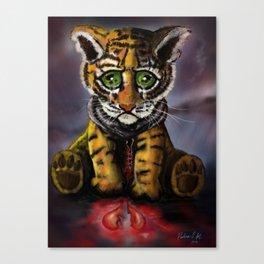 Sad Baby Tiger Canvas Print
