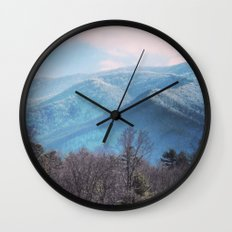 Blue Mountains Wall Clock