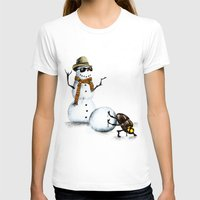 snowman T-shirts featuring Snowman by Anna Shell