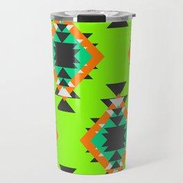 Bright shapes in neon green Travel Mug