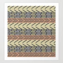 Bricks and sticks Art Print