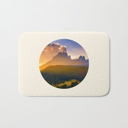 Sunrise Over The Mountains Trees & Rolling Hills Bath Mat