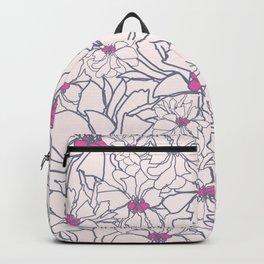 Pink Peony Garden Backpack