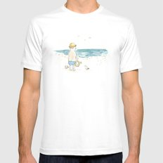 The old boy and the sea Mens Fitted Tee White MEDIUM