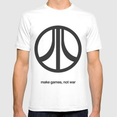 Make Games, Not War Mens Fitted Tee White MEDIUM