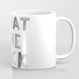 WHAT THE FUCK duct tape white Coffee Mug