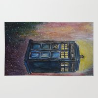 tardis Area & Throw Rugs featuring TARDIS by EricaWise