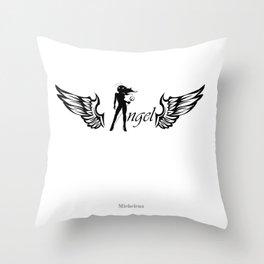 Angel Diabla Throw Pillow