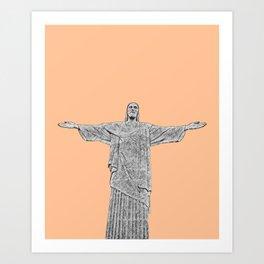 Christ Redeemer Rio de Janeiro - Art Art Print