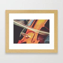 Long Exposure Cello Framed Art Print