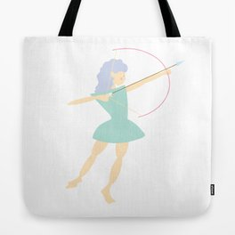 Forest Girl with bow and arrow, green Tote Bag