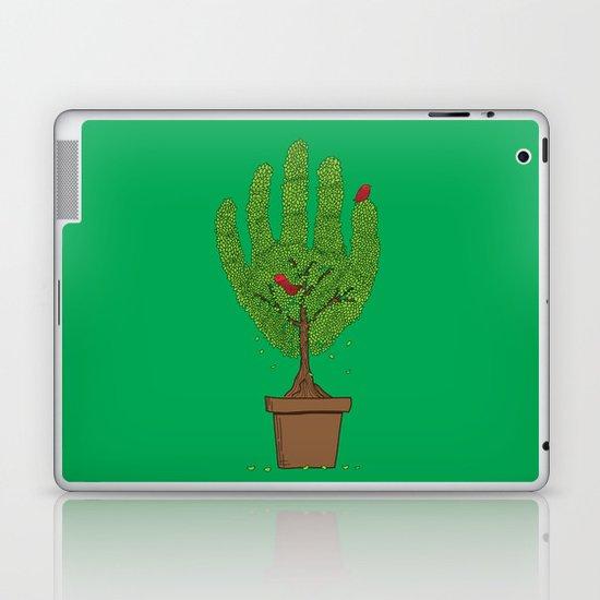 A bird in hand Laptop & iPad Skin