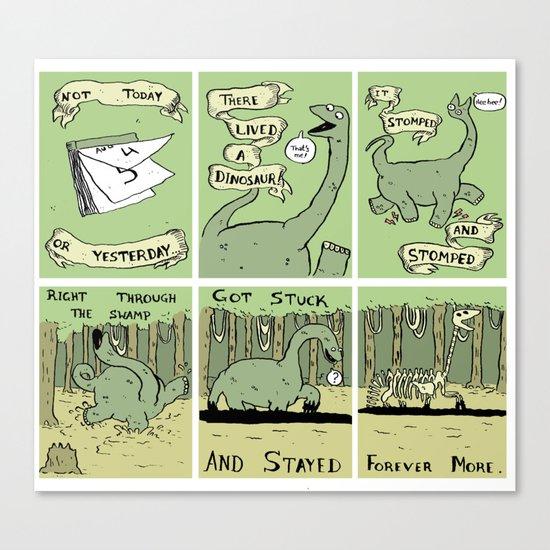 Dinosaur Poem Canvas Print