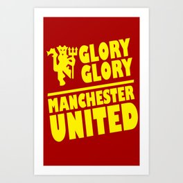 Slogan: Man United Art Print