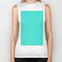 turquoise Biker Tanks featuring Turquoise by List of colors