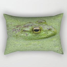Frog at Nisqually in green water Rectangular Pillow