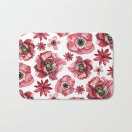 Red Poppies Bath Mat
