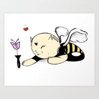 DEMON BEE Art Print