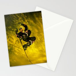 Snowboarding #1 getting air Stationery Cards