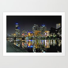 City Reflections Art Print