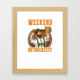 Weekend Forecast with a Chance of drinking Beer Oktoberfest  product Framed Art Print