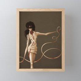 Self Bound Woman Surreal Digital Art Framed Mini Art Print