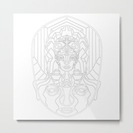 H Space V2 white Metal Print