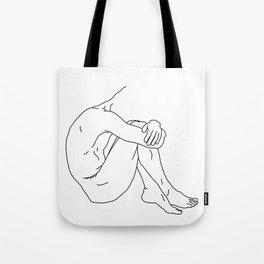 Shy - Black on White Tote Bag