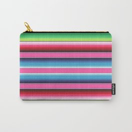 Pink Green Blue Mexican Serape Blanket Stripes Carry-All Pouch