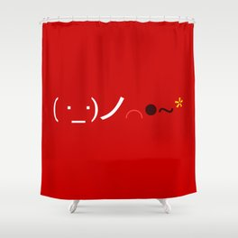 ( ・_・)ノ⌒●~* Bomb! Shower Curtain