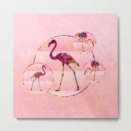 Walk Like A Flamingo Metal Print
