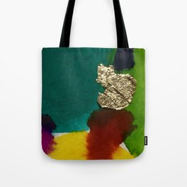 Abstract with Gold Leaf Tote Bag