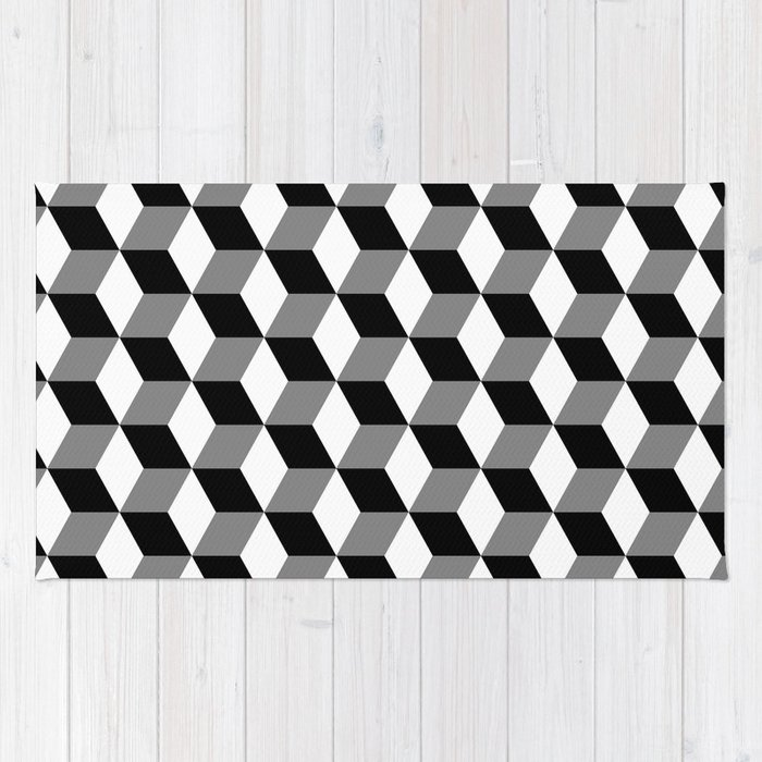 and geometric black plant triangle rug retailer design zoom white geo the rugs