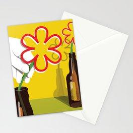 Beer Bottle Flowers Stationery Cards