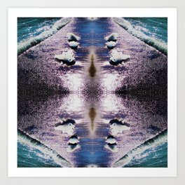 97 - Seashore abstract Art Print