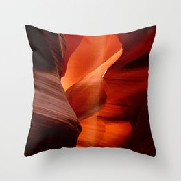 Marvelous Antelope Canyon Colors Throw Pillow