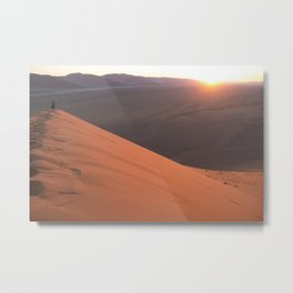 Sunrise from Dune 45 Metal Print
