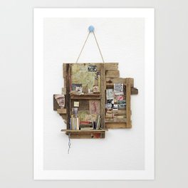 Fragmented Cabin Study in 1:10 Scale Art Print